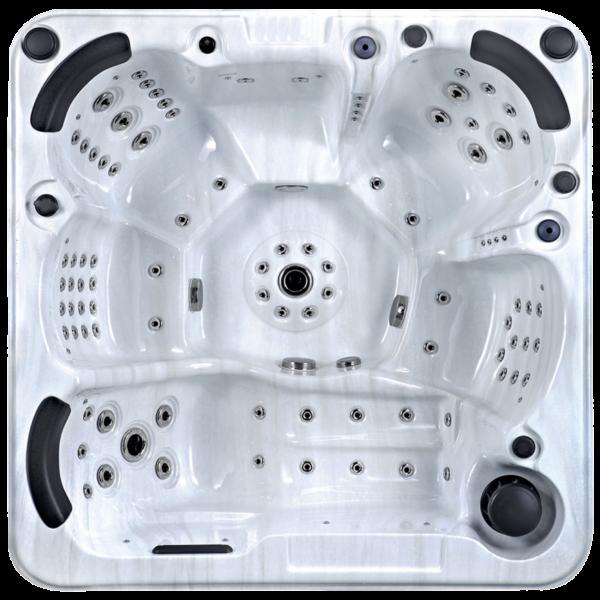 Platinum Spas Palma Hot Tub (White) - Aerial View