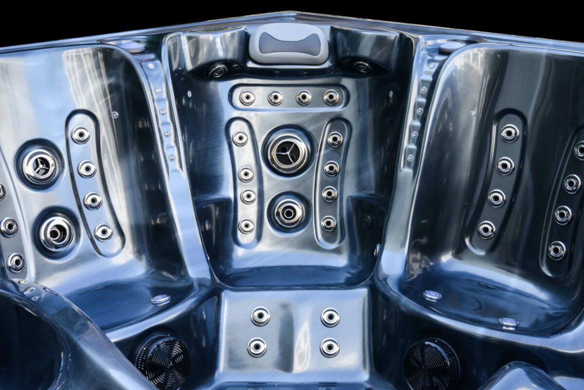 Platinum Spas Onyx Hot Tub - Silver Seats