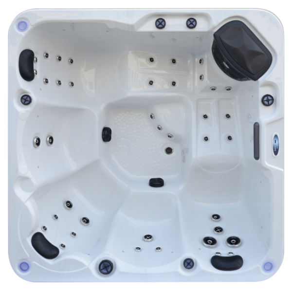 Platinum Spas Trident 5 Person Hot Tub (White) - Aerial View
